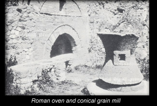 Roman oven and conical mill